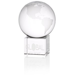 "Globe Crystal Desktop Award - 5"" Main Image"