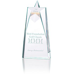 Shooting Star Crystal Award - 10""
