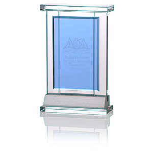 Indigo Celebration Crystal Award - Rectangle Main Image