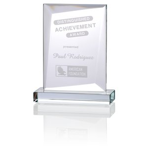 "Prestige Starfire Glass Award - 7"" Main Image"