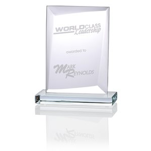"Prestige Starfire Glass Award - 8"" Main Image"
