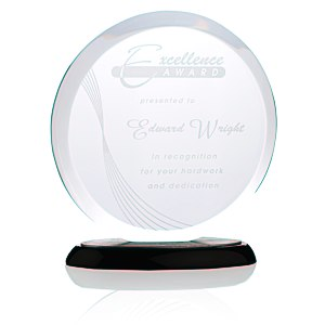Corona Starfire Glass Award - 8""