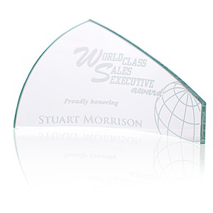 "Pennant Starfire Glass Award - 4"" Main Image"