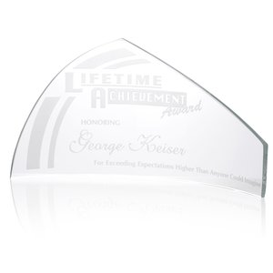 "Pennant Starfire Glass Award - 6"" Main Image"