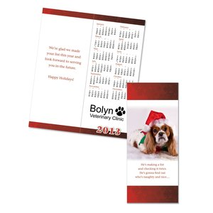Greet n Keep Calendar Card - Christmas Puppy