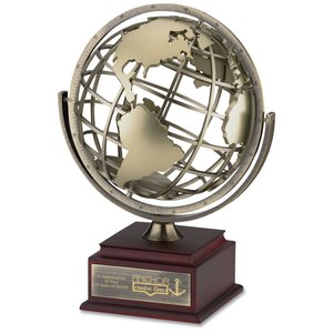 Spinning Globe Achievement Award Main Image