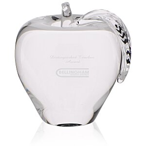 Apple Crystal Paperweight Main Image