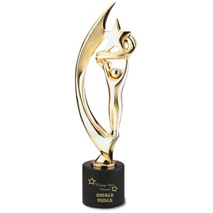 "Showstopper Cast Metal Achievement Award - 16"" - 24K Gold"