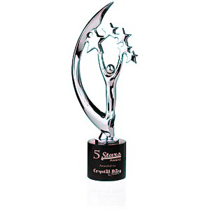 "Masterpiece Cast Metal Achievement Award - 14"" - Chrome"