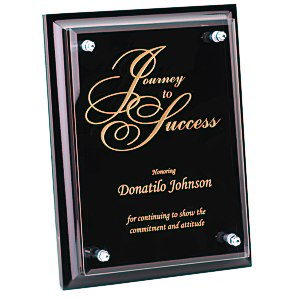 "Black Finished Plaque with Jade Glass Plate - 8"" Main Image"