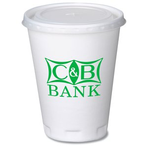 Trophy Hot/Cold Cups w/Straw Slotted Lid - 12 oz. Main Image