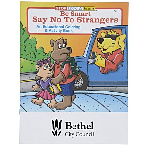 Be Smart, Say No To Strangers Coloring Book Main Image