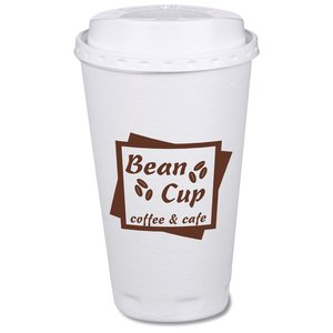 Trophy Hot/Cold Cups w/Traveler Lid - 16 oz. Main Image