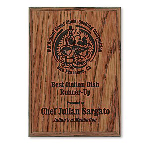 "Simulated Oak Plaque - 7"" Main Image"