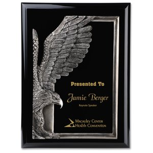 "Majestic Eagle Plaque - 12"" - Black"