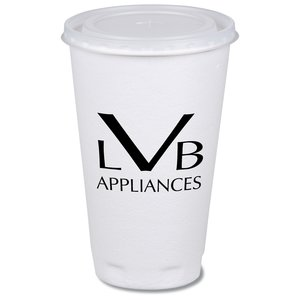 Trophy Hot/Cold Cup with Straw Slotted Lid - 16 oz.- Low Qty Main Image