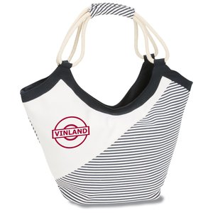 Striped Cotton Rope Tote Main Image