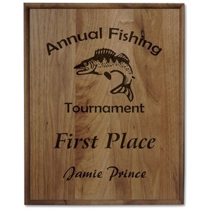 "Walnut Finished Wood Plaque - 15"" Main Image"