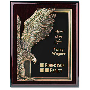 "Majestic Eagle Plaque - 13"" - Cherry"