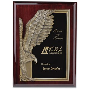 "Majestic Eagle Plaque - 12"" - Cherry Main Image"