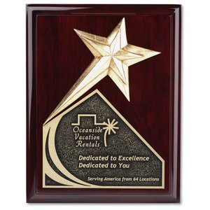 "Soaring Star Plaque - 9"" - Cherry"