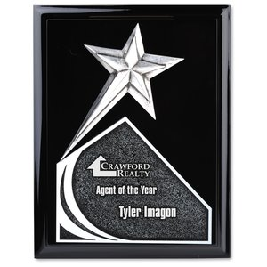 "Soaring Star Plaque - 10"" - Black Main Image"