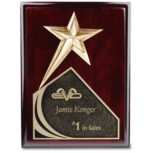 "Soaring Star Plaque - 10"" - Cherry"