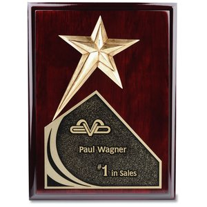 "Soaring Star Plaque - 12"" - Cherry"