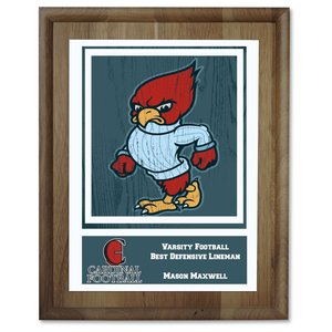 Walnut Finished Wood Plaque w/Digital Print - 10""