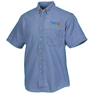 Blue Generation Short Sleeve Denim Shirt - Men's Main Image