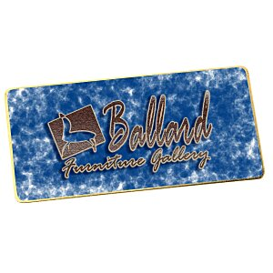 "Metal Name Badge - Rectangle - 1-1/2"" x 3"""