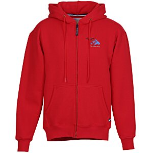 Cotton Rich Zip Front Hoodie - Embroidered Main Image