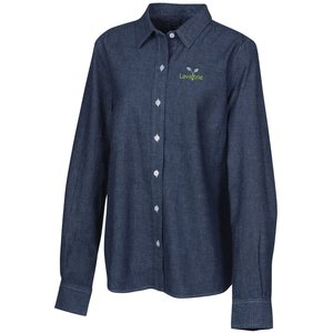 Open Collar Chambray Shirt - Ladies'