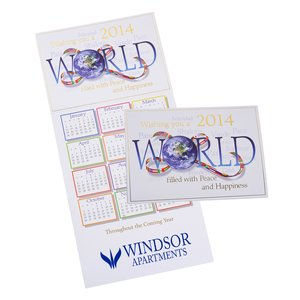 World Filled with Peace Calendar Greeting Card Main Image