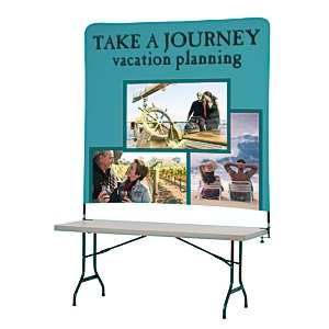Tabletop Banner System with Tall Back Wall - 6' Main Image
