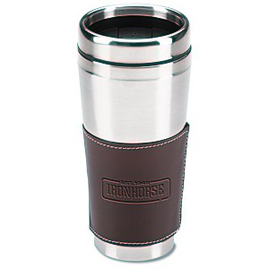 Cutter & Buck Leather Tumbler - 16 oz. Main Image