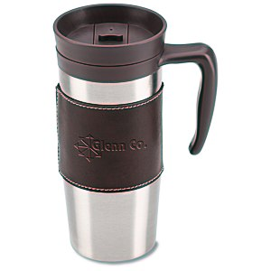 Cutter & Buck Leather Travel Mug - 14 oz. Main Image