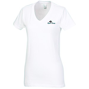 District Concert V-Neck Tee - Ladies' - White - Screen Main Image