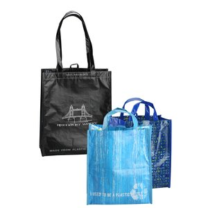 Laminated 100% Recycled Shopper Set-Closeout Main Image