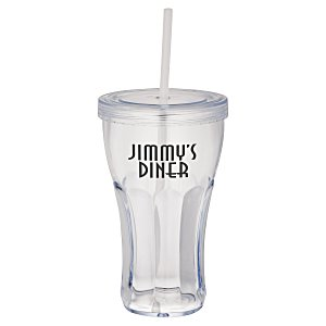 Fountain Soda Tumbler with Straw - 16 oz. - 24 hr