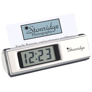 Gionata Clock and Business Card Holder-Closeout Main Image