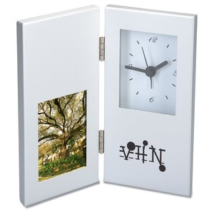 "2"" x 3"" Photo Frame and Hinged Clock - Closeout Main Image"