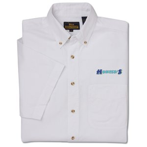 Short Sleeve Poplin Shirt - Men's - Closeout Main Image