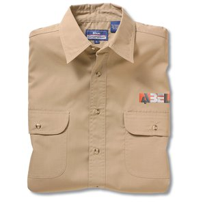 Blue Generation 2-Pocket LS Poplin Shirt-Men's-Closeout Main Image