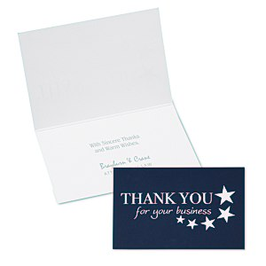 Thank You for Your Business Note Card Main Image