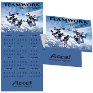 Teamwork Calendar Greeting Card Main Image