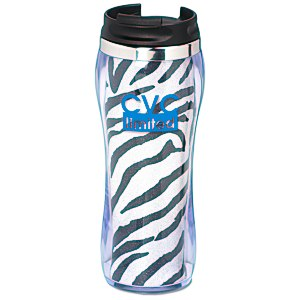 Hollywood Travel Tumbler - Zebra - 14 oz. Main Image