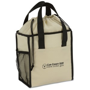 Drawstring Lunch Cooler Tote - Closeout Main Image