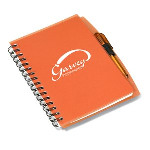 Mini Translucent Notebook with Pen - Closeout Main Image