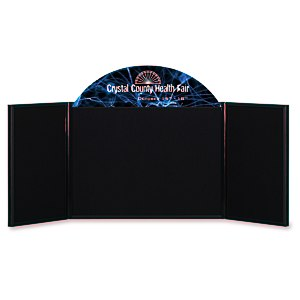 "Briefcase Tabletop Display with Curved Header - 18"" x 48"" Main Image"